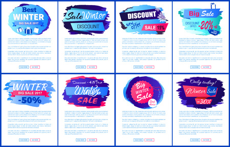 Best Winter Sale Offer Vector Illustration Posters