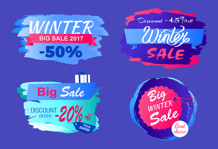 Winter Big Sale 2017 Half Price Discount Today Set Ilustração