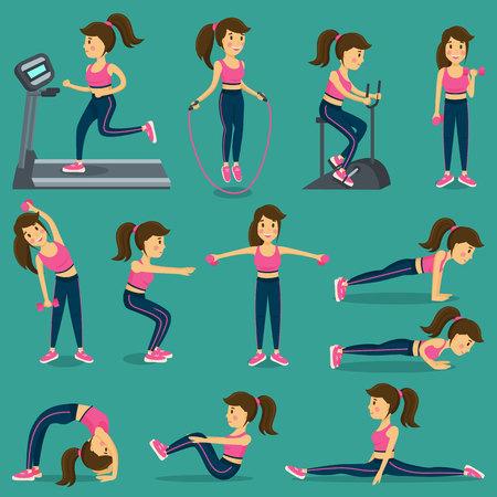 Vrouw die lichaamsbeweging doet in sportkleding Stockfoto