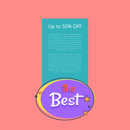 Best night sale banner with moon and stars up to 50 off vector poster with place for text. Best price offer at midnight, template of promo banner
