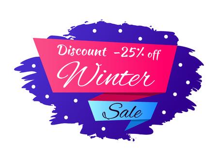 Winter Discount -25 off Vector Illustration Illustration