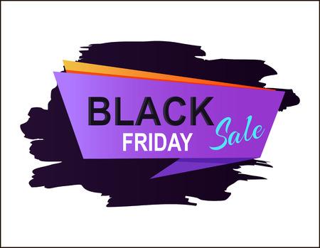 Black Friday Sale Placard Vector Illustration