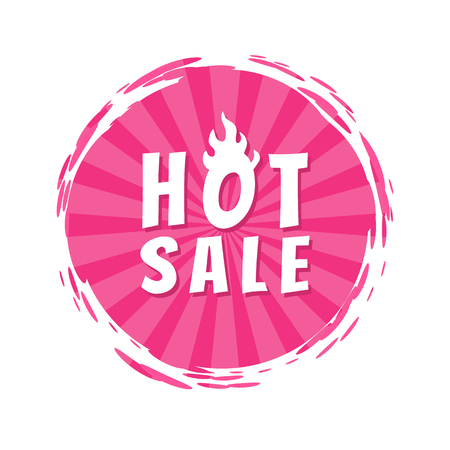 Hot Sale Inscription Pink Paint Spot Brush Stroke Illusztráció