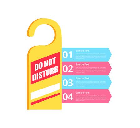 Ne pas déranger l & # 39 ; hôtel signe illustration vectorielle Banque d'images - 91370336
