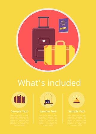 Whats Included in accommodation Service Info Internet Page with luggage