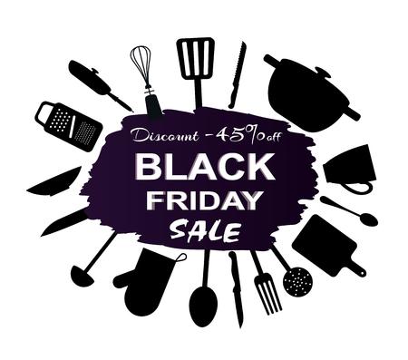 Black Friday -45 Discount Vector Illustration