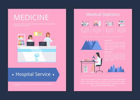 Medidcine Hospital Service Vector Illustration