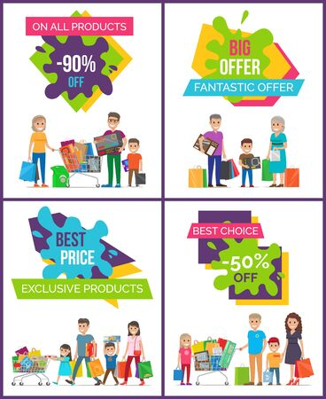On All Products Big Offer Vector Illustration