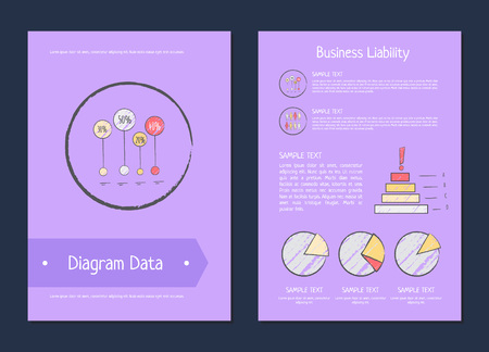 Diagram data business liability methods illustration.