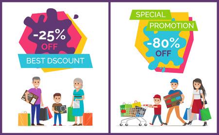 Best Discount Promotion Poster Vector Illustration Illustration