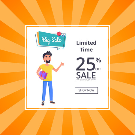 Big Sale Unlimited Time 25 Percent Discount Poster