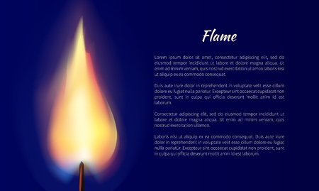 Flame from candle illustration.