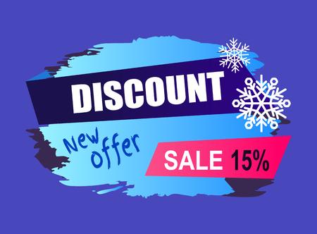 Winter discount banner design.