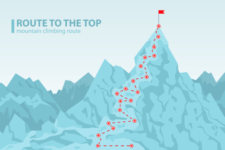 Route to the top mounting climbing poster design.