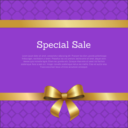 Special Sale Promo Poster Place for Text Framed Ilustrace