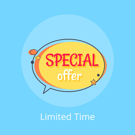 Limited Time Special Offer Sale Advert in Bubble Illustration