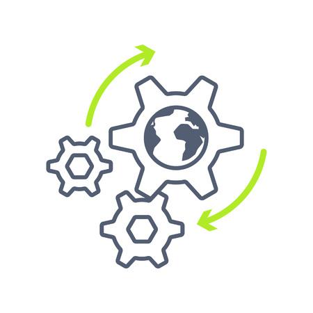 Infographic Element Gear on Vector Illustration Illustration