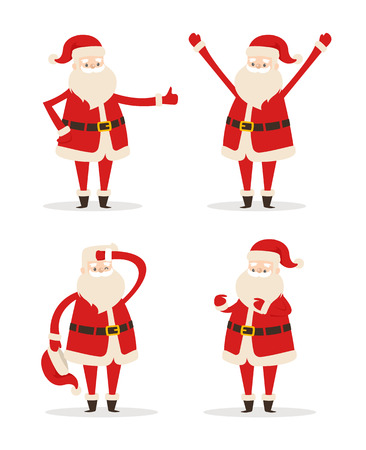 Happy Smiling Santa Claus Vector Illustration 版權商用圖片 - 91601511