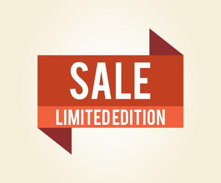 Sale Limited Edition Icon Vector Illustration Illustration