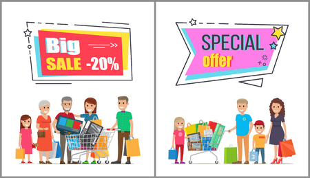 Big Sale on Wholesale Purchases for Big Families Stock Photo