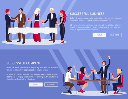 Successful Business, Company Vector Illustration Ilustrace