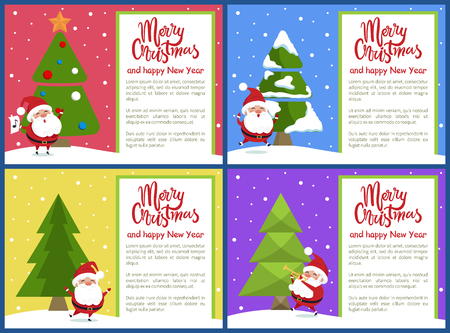 Merry Christmas greeting cards. Illustration