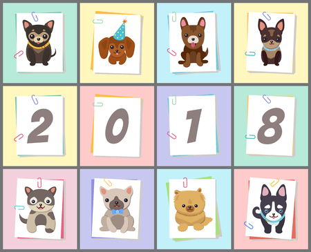 Happy New Year 2018 banner.