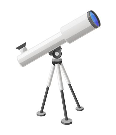 望遠鏡のアイコン。  イラスト・ベクター素材