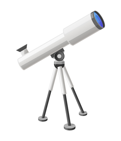 Telescope icon. 向量圖像