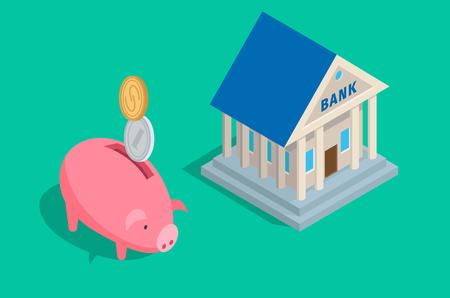 Saving money illustration.