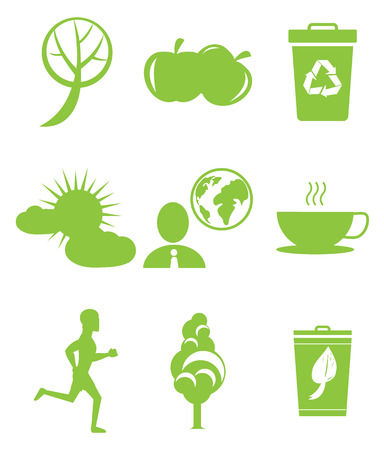 Set of save the environment icons.