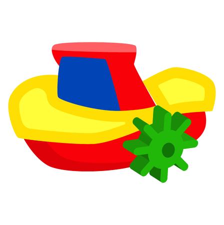 Toy ship icon.