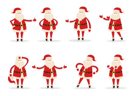 Set of Santa Claus icons.