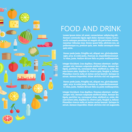 Food and drink banner.