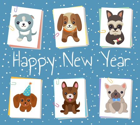 Happy New Year banner. 版權商用圖片 - 91722596