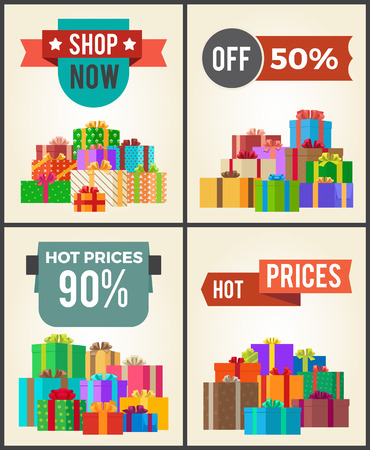 Shop Now Hot Price 90 Half Discount Promo Labels