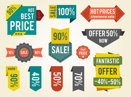 뜨거운 가격 판매 통관 벡터 일러스트 레이션