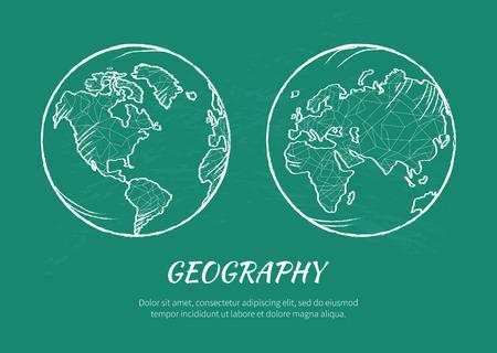 Earth Planet Model Icon Vector Illustration
