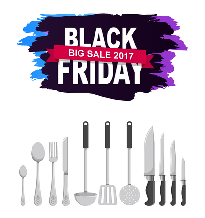 Black Friday 2017 Big Sale Vector Illustration  イラスト・ベクター素材