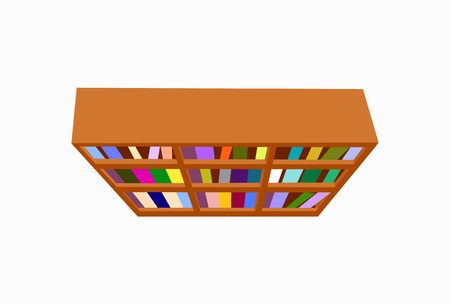 Bookshelf with Books Icon Vector Illustration