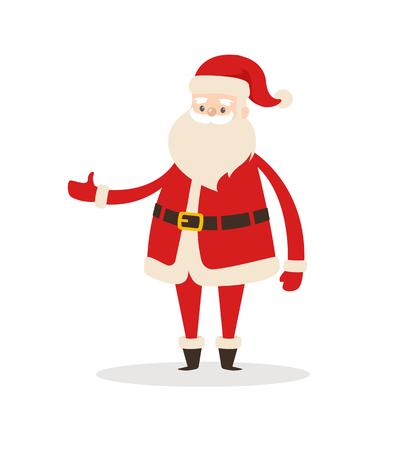 サンタクロース漫画のXmasキャラクターアイコン。  イラスト・ベクター素材