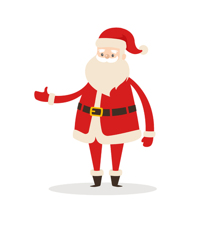 Santa Claus Cartoon Xmas Character Icon. Ilustração
