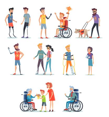 Behinderte und verletzter Menschen , die ein Stillleben leben