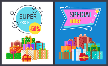 Super Price Special Offer Icon Illustration.