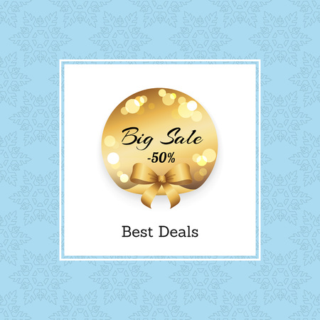Best Big Sale -50 Off Golden Round Label.