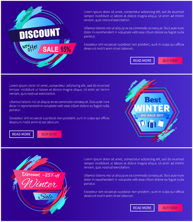 New offer discount and winter sale banner design.