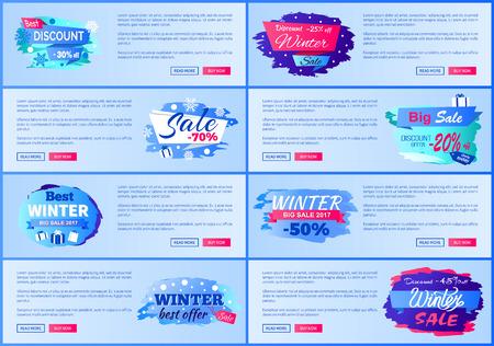 Best Discount -30 Winter Sale Vector Illustration