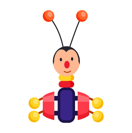 Child Xylophone in Form of Beetle Illustration