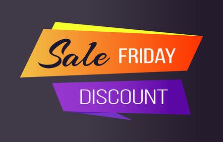 Sale Friday Discounts Banner Ilustração