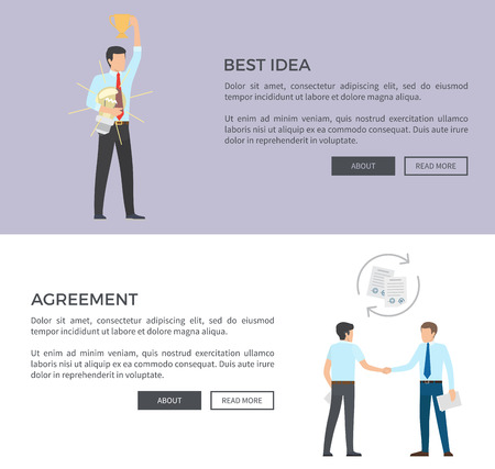 Best Idea and Agreement on Vector Illustration